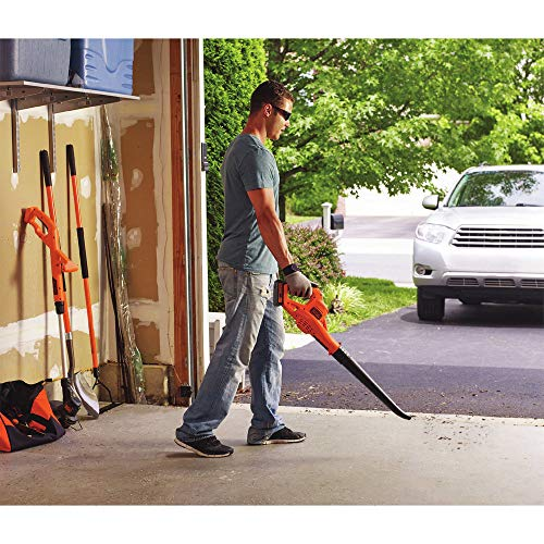 BLACK+DECKER LSW221 20V MAX Lithium Cordless Leaf Blower Sweeper