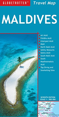 Maldives Travel Map (Globetrotter Travel Map)...