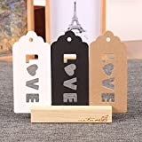 Kraft Paper Christmas Gift Tags with Hanging Hole Wedding Favor Decorative Hang Tags Festival Crafts Supplies Bonbonniere Merchandise Bookmark Love Note 4.7x10cm (1.8x3.9 inch) (1200 Pieces, White)