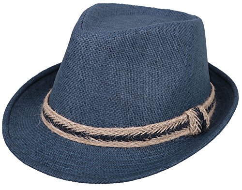2e87aa2b89f13 Women and Men Straw Fedora Sun Hat - Outdoor Cap w Band