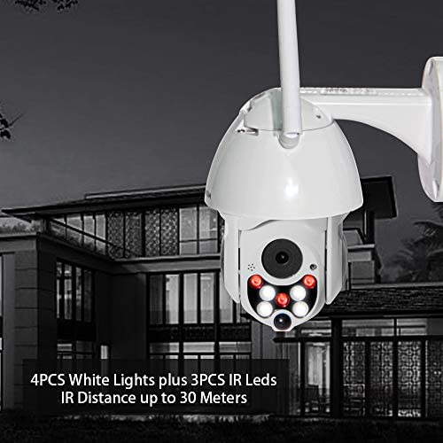 INQMEGA PTZ Camera Outdoor,1080P WiFi Security IP Camera,2.4G Pan Tilt Dome Camera,Motion Alerts,50ft Night Vision,Waterproof IP66,Surveillance IP Camera with Two Way Audio,Support Max 128GB SD Card