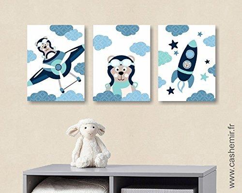 Affiches décoration chambre bébé garçon illustration poster enfant ...
