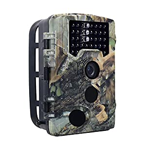 16MP 1080P Trail Camera with 2.31inch TFT LCD Screen, Leelvis Infrared Scouting Game&Hunting Camera with 65 Feet Trigger Distance for Wildlife Activity and House Security Monitoring(bright camouflage)
