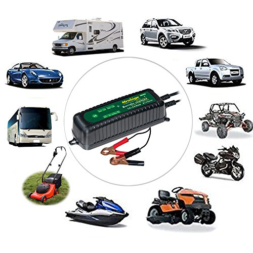 Mroinge MBC035 6V and 12V 3.5A Smart Vehicle Battery Charger/Maintainer for Cars, Motorcycles, RVs, TVs, Powersports, Boat and More Vehicle GEL WET AGM Batteries, With IP65 Waterproof by Mroinge (Image #5)