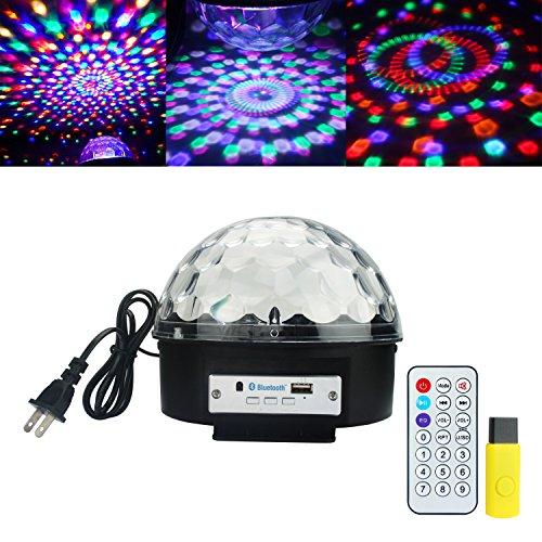 ALED LIGHT® Bluetooth Coresmart Fern bunten LED-Bühnenbeleuchtung Kristall Magic Ball-Lichteffekt-Licht für Party, Disco mit MP3-Funktion(mit USB)