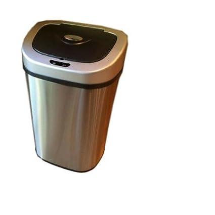 Automático dispensador de papelera acero inoxidable Metal cocina restaurante eléctrico sensor de movimiento tapa modern basura