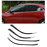 Baodiparts Stainless Steel Upper Window Sill Frame Molding Cover Frame Trim Car Window Decorations 4-pc Set