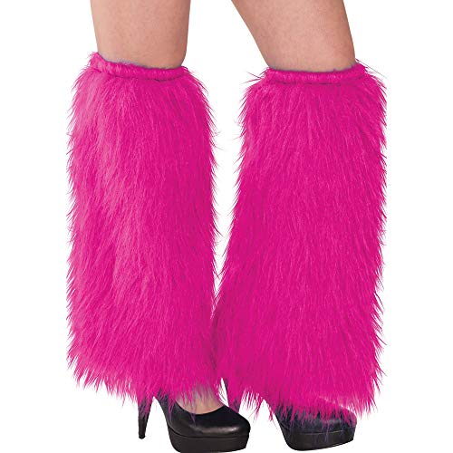 Plush Leg - Pink Plush Leg Warmers, Party Accessory