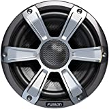 Fusion Entertainment SG-FL77SPC 280W Coaxial Sports Marine Speaker with LED, Chrome, 7.7