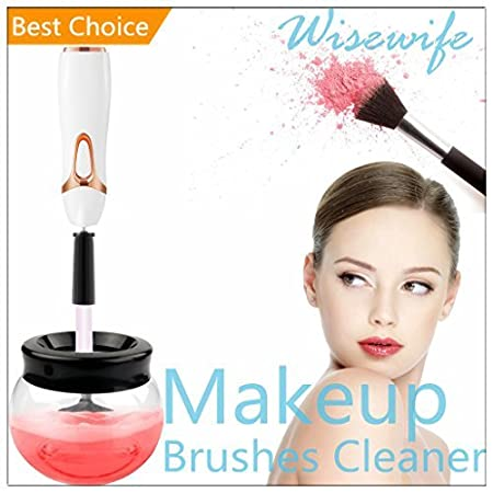 Makeup Brushes Cleaner Dryer - Clean All Cosmetic Brush Sizes Avoid Facial Breakouts Automatic Spinner Cleanser Cleaning Bacteria Oil and Dirt in 30 Seconds (Black) (Black) Youmijia