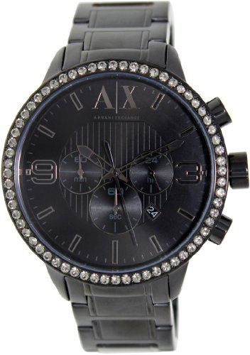 Armani Exchange Men's AX1271 Black Stainless-Steel Quartz Watch with Black Dial