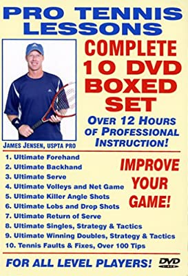 Pro Tennis Lessons Complete 10 DVD Boxed Set, Starring Renowned USPTA Pro James Jensen: Includes over 12 Hours of Professional Tennis Instruction for all level Players!