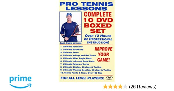Amazon.com: Pro Tennis Lessons Complete 10 DVD Boxed Set, Starring ...