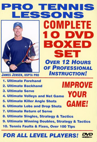 Pro Tennis Lessons Complete 10 DVD Boxed Set, Starring Renowned USPTA Pro James Jensen: Includes over 12 Hours of Professional Tennis Instruction for all level Players! by protennislessons.com