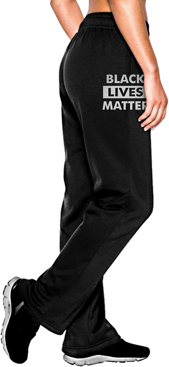 Mens Comfortable Sweatpants Black Lives Matter Sports Pants for Youth
