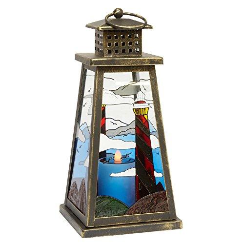 Lighthouse Solar Light Lantern Antique Bronze Bronze Lighthouse Lantern