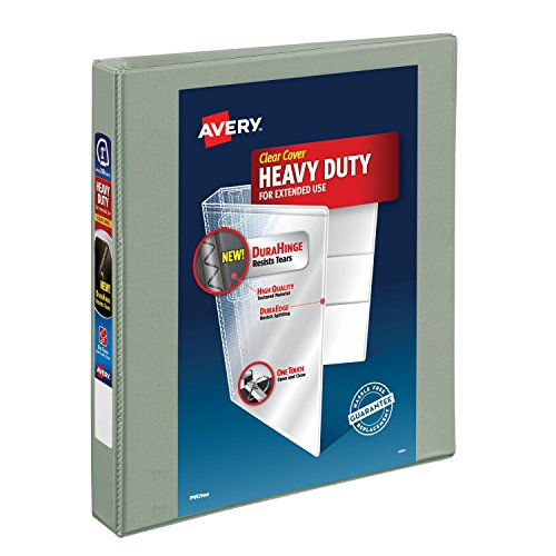 Avery Heavy-Duty View Binder with 1-Inch One Touch EZD Ring,