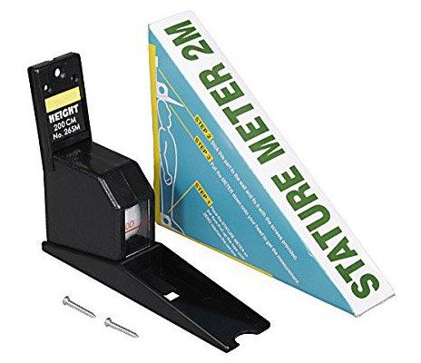 Gadget Hero's™ Height Measuring Scale Tape Measure Stature Meter. Black.