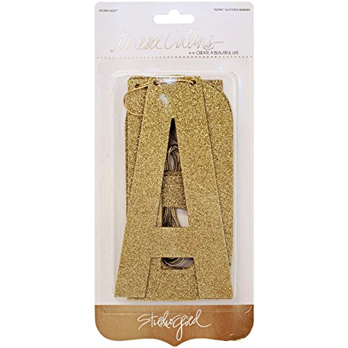 Studio Gold Glittered Chipboard Word Banner -Adore by M1N4B5 (Image #1)