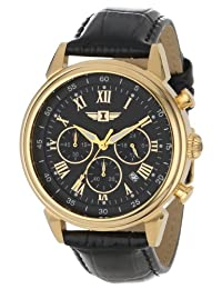 I By Invicta Men's 90242-003 Chronograph Black Dial Black Leather Watch