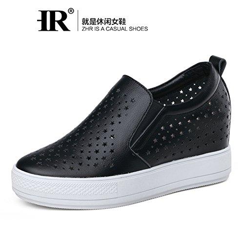 Hueco Interno Gao Lefu Zapatos En Verano,Jurchen Plataforma Zapatos De Cuero,Estilo Coreano Blanco Zapatitos,Mujeres Casuales Zapatos Del Estudiante C