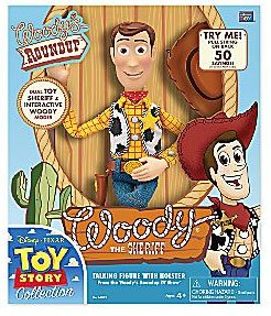 Disney / Pixar Toy Story Woodys Roundup 15 Inch Talking Figure Woody The Sheriff with Holster