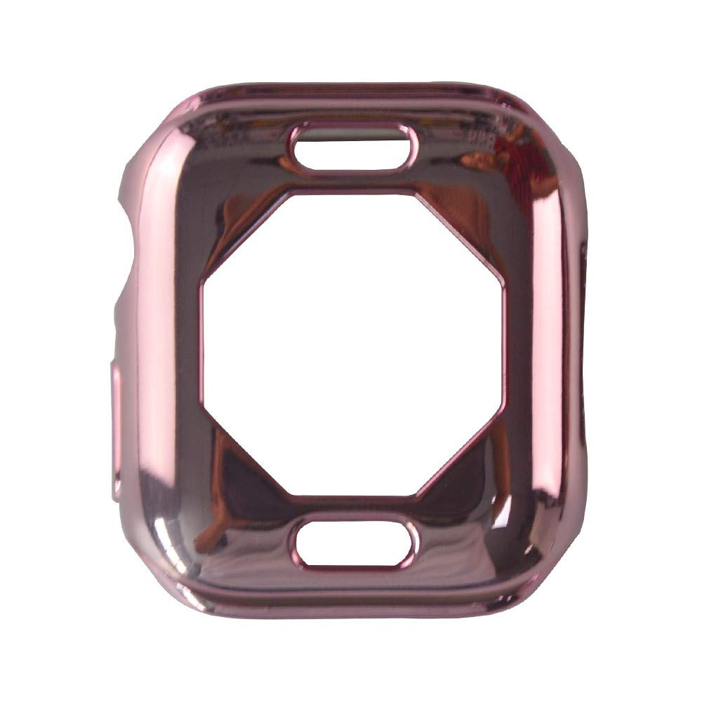 iumei Apple Watch Serie 4 Smart Watch Protection Frame, Fashion Quick Release Soft Sport Plating Ultra-Slim Protected Case Cover for Apple Watch Series 4 40mm (Pink)
