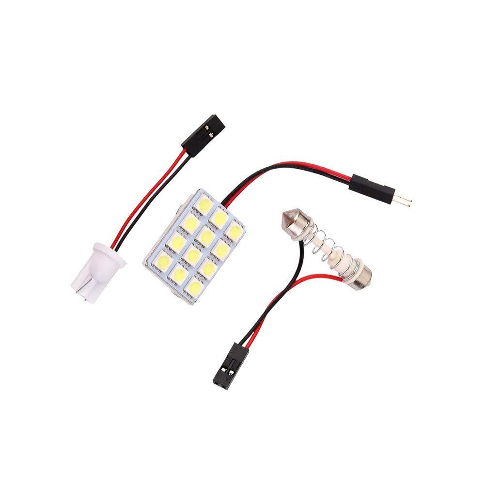 YaptheS Estremamente Luminoso lampadine LED della Luce della Lettura da Auto per Interni Auto luci Targa Dome Mappa Porta cortesia 1set