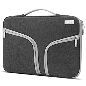 Egiant 15.6 Inch Shockproof Laptop Sleeve,Padded Protective Bag Compatible with Asus 1F555LA/X551|Acer Aspire|Dell Inspiron |Hp Pavilion Chromebook,Water-Resistant Notebook Case Handbag-Black