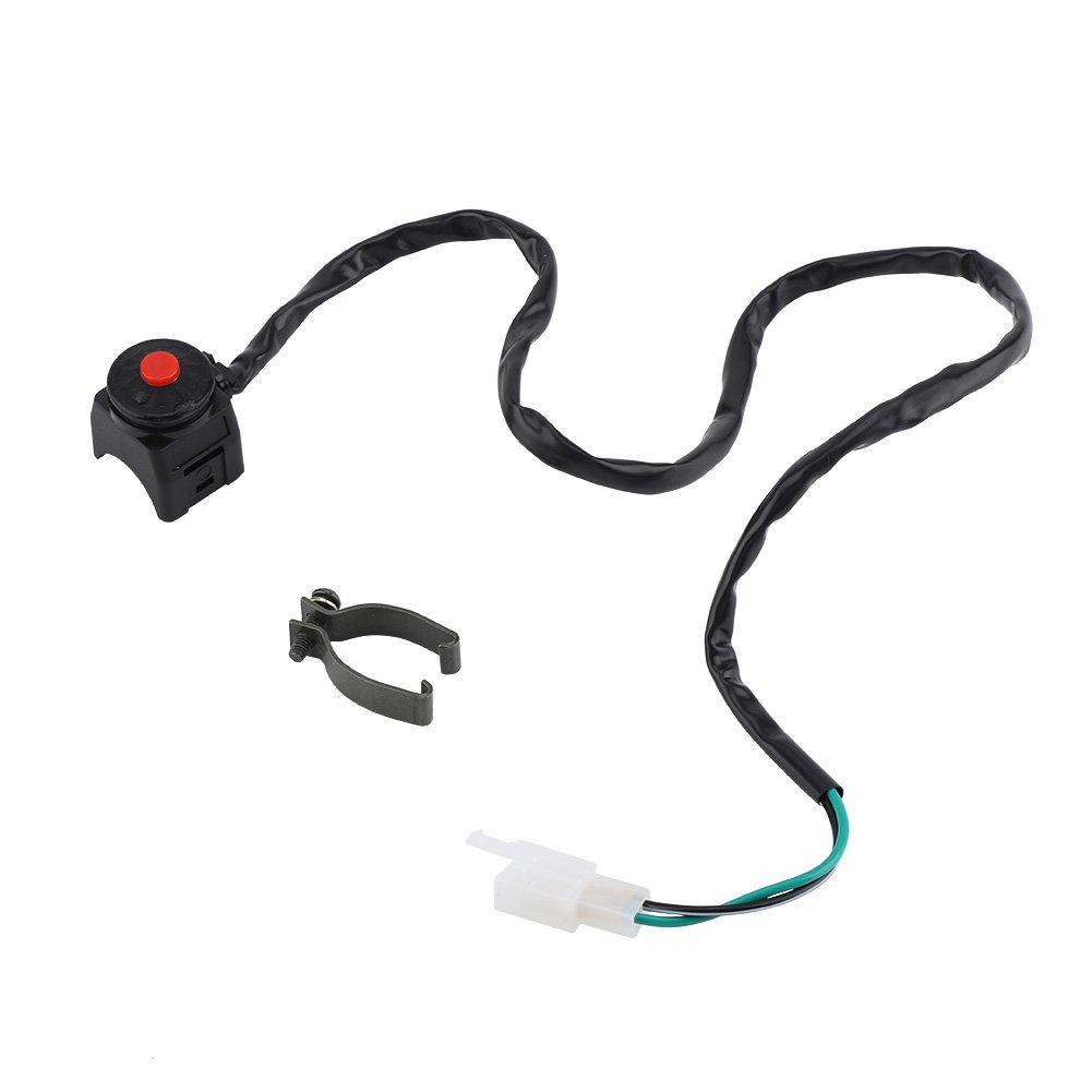 7/8' Motorcycle Handlebar Engine Start Kill Switch, Horn Flashlight Headlight Control ON/OFF Switch 22mm Handlebar Horn Control ON/OFF Flash Warning Light Switch Keenso