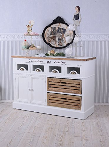 landhausstil sideboard anrichte shabby weiss vintage palazzo exclusiv k chenausstattung. Black Bedroom Furniture Sets. Home Design Ideas