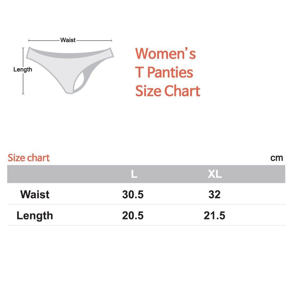 Leseul Womens Basic Thong T Panties Set of 4P