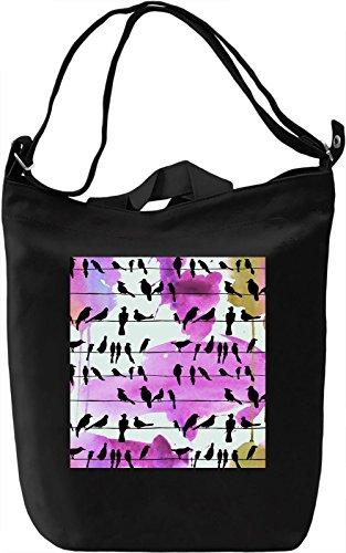Bird Notes Borsa Giornaliera Canvas Canvas Day Bag| 100% Premium Cotton Canvas| DTG Printing|