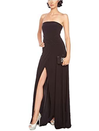 Ovitina 2016 Long Sexy Black Red Strapless Open Back Fitted Cheap Prom Dresses Black us2