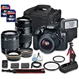 Canon EOS Rebel T6 DSLR Camera Bundle with Canon EF-S 18-55mm f/3.5-5.6 IS II Lens + Tamron Zoom Telephoto AF 70-300mm f/4-5.6 Macro Autofocus Lens + 2 PC 16 GB Memory Card + Camera Case