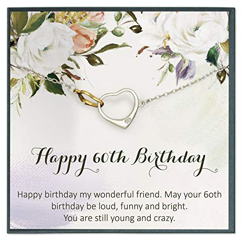 Grace of Pearl 60th Birthday Gifts for Women Birthday Gift Ideas, 60th Birthday Gifts for Mom Sixtieth Birthday Quote Gift Ideas -