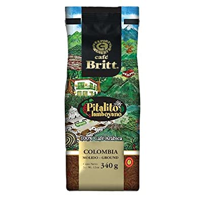 Cafe Britt Colombia Pit Alito Laboyano Whole Bean, 12 Ounce