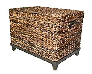 Brown Wicker Storage Trunk / Coffee Table by Threshold