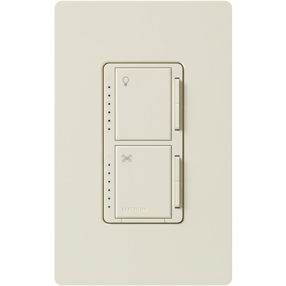 Lutron MA-LFQM-LA 300 Watt Maestro Multi-Location Fan and Light Control, Light Almond