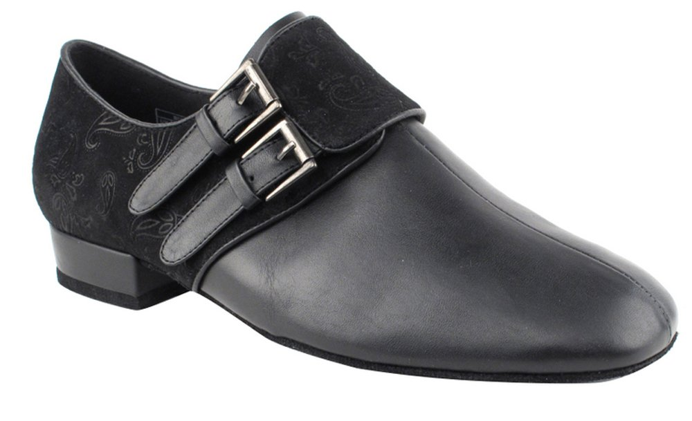 Very Fine Shoes Men's Standard & Smooth Competitive Dancer Series CD9006A Black Leather & Nubuck Shoes (12)