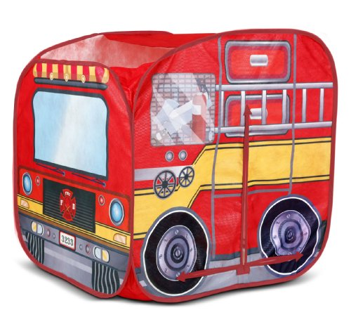 Playhut Mini Fire Vehicle Tents (Fold Up School Bus Tent)