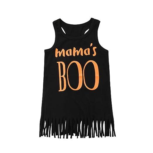 Amazon Com Itranyee Toddler Baby Girl Mama S Boo Tank Top Vest
