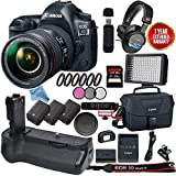 Canon EOS 5D Mark IV DSLR Camera with 24-105mm f/4L II Lens 1483C010 + 256GB SDXC Card Video Kit