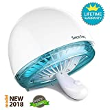 Yiiyaa [NEW 2018] Effective Ultrasonic Mosquito Repellent Odorless Non-Toxic 30db Quiet Radiation 365nm Light Inhaled Trap No Chemical Insecticides Contained Flytrap for Home Indoor Outdoor