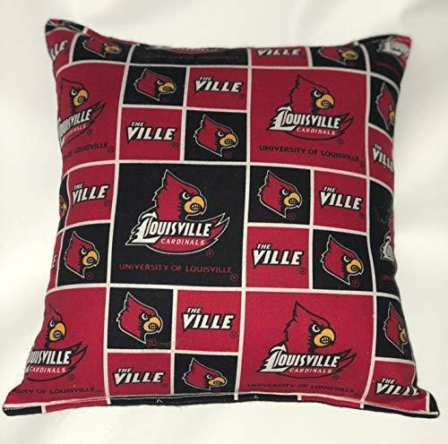 "Louisville University Pillow The Ville Football Pillow Pillow NCAA HANDMADE In USA Pillow is approximately 10"" X ()"