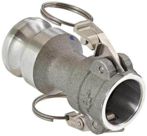 PT Coupling CXA Short STA-Lok 2 Series Aluminum Cam and Groove Hose Fitting, Reducer, Stainless Steel 316 (SLS) Cam Arms, 1