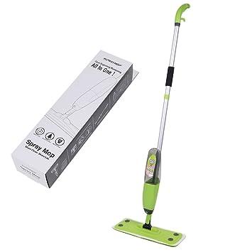 Piso limpiador de mopa de microfibra fregona 360 Degree para mango de agua Spray Mopa fregona de casa cama: Amazon.es: Hogar