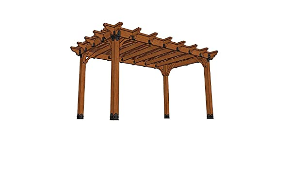 Viñedo 10 pies x 16 pies. DIY Western Red Cedar Pergola: Amazon.es ...