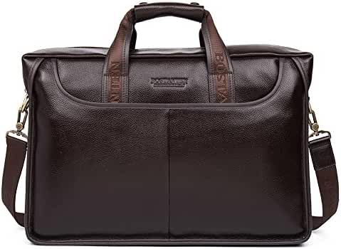 BOSTANTEN Leather Briefcase Laptop Handbag Messenger Business Bags for Men