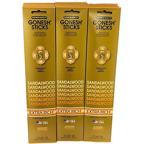 Gonesh Incense Sticks Extra Rich Collection - Sandalwood (240Sticks) by Gonesh (Image #3)